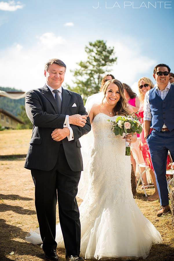 J. LaPlante Photo | Lyons Wedding Photographer | Mon Cheri Wedding | Bride Walking Down Aisle