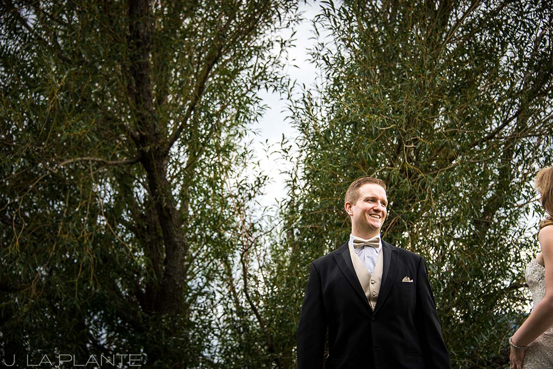 J. LaPlante Photo | Colorado Springs Wedding Photographers | Cheyenne Mountain Resort Wedding | Bride and Groom First Look