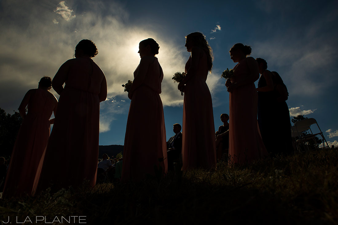 J. LaPlante Photo | Boulder Wedding Photographer | Mon Cheri Wedding | Bridesmaids at Ceremony