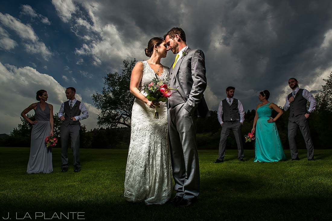 J. La Plante Photo | Colorado Wedding Photographer | Planet Bluegrass Wedding | Cool Wedding Party Portrait