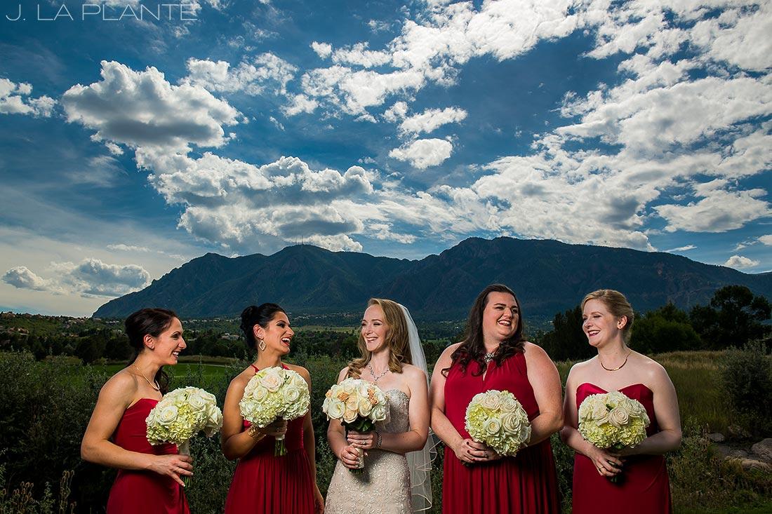 J. LaPlante Photo | Colorado Springs Wedding Photographers | Cheyenne Mountain Resort Wedding | Cool Bridesmaids Photo