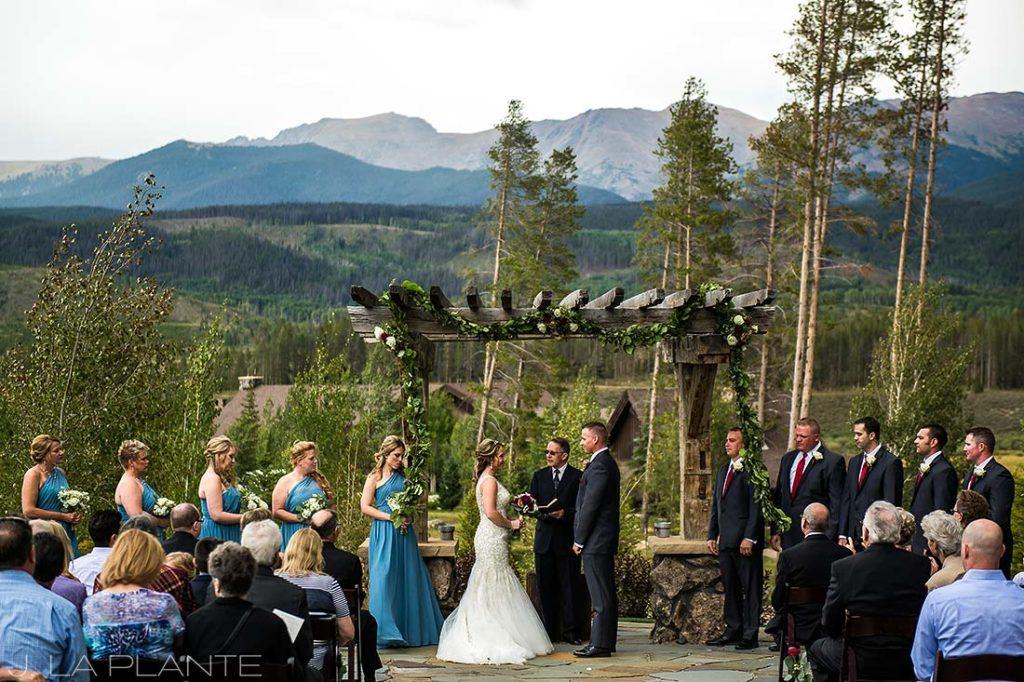J. La Plante Photo | Winter Park Colorado Wedding Photographer | Devil's Thumb Ranch Wedding | Outdoor Mountain Wedding Ceremony