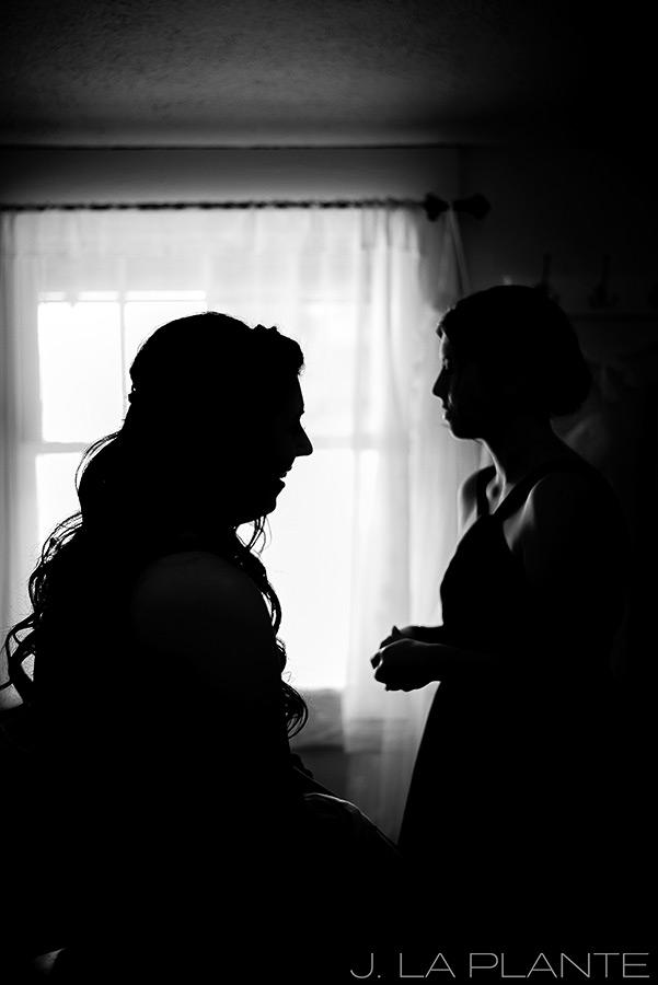 J. La Plante Photo | Boulder Wedding Photographers | Wedgewood on Boulder Creek Wedding | Silhouette Photo of Bride
