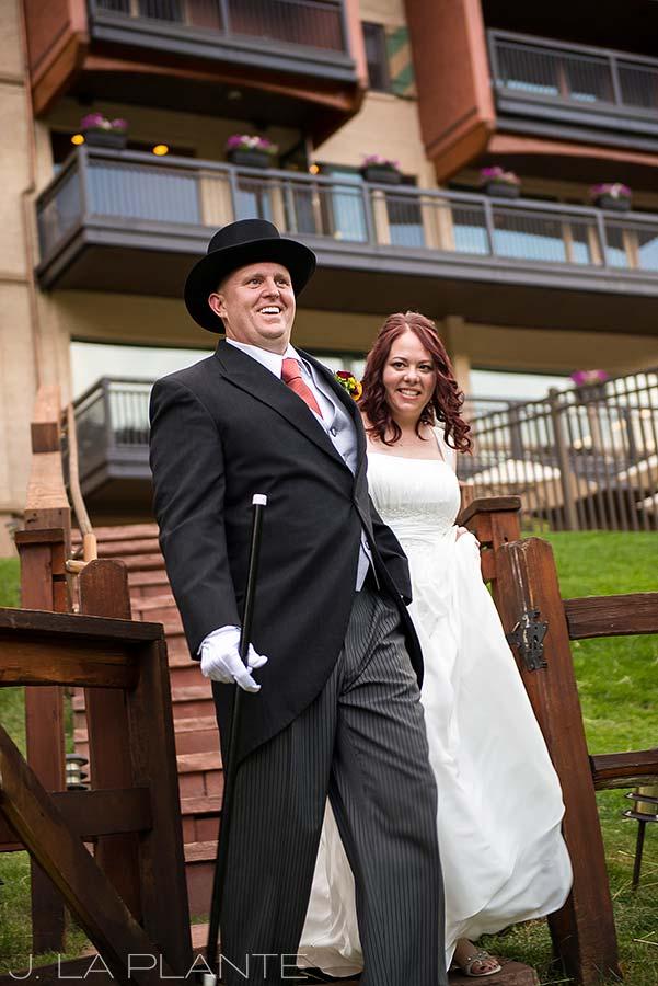 J. La Plante Photo | Vail Wedding Photographers | Lion Square Lodge Wedding | Bride and Groom Introduction