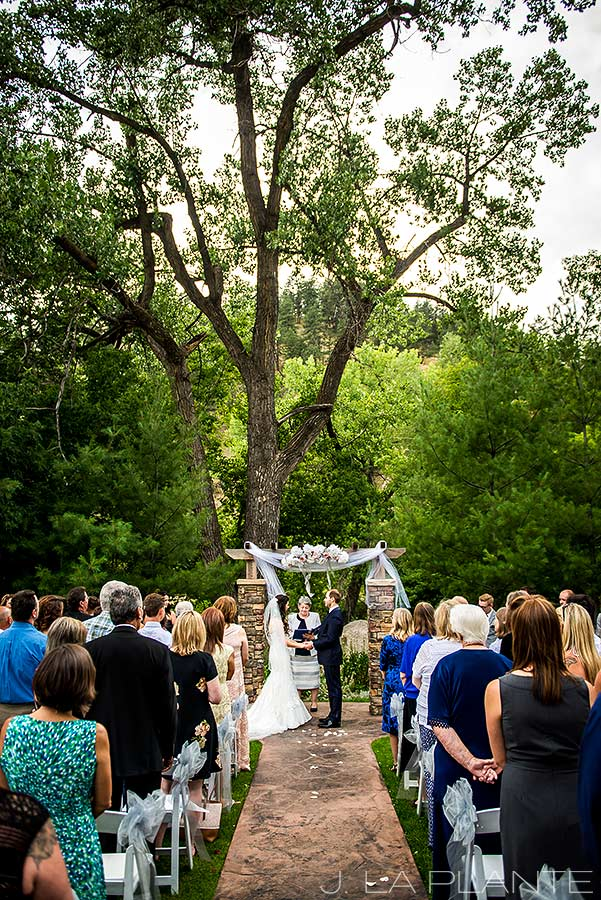 J. La Plante Photo | Boulder Wedding Photographers | Wedgewood on Boulder Creek Wedding | Outdoor Wedding Ceremony