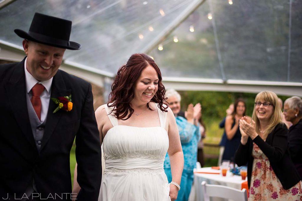 J. La Plante Photo   Vail Wedding Photographers   Lion Square Lodge Wedding   Bride and Groom Introduction