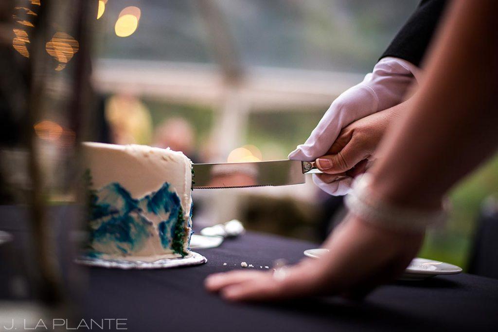 J. La Plante Photo   Vail Wedding Photographers   Lion Square Lodge Wedding   Cutting the Cake