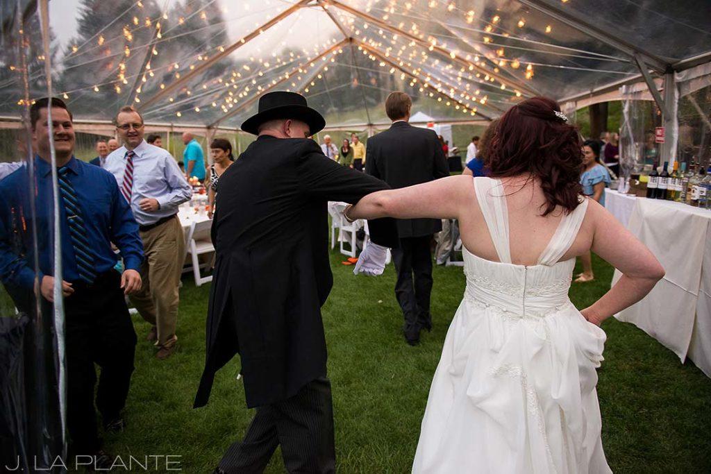 J. La Plante Photo   Vail Wedding Photographers   Lion Square Lodge Wedding   Wedding March Polka Dance