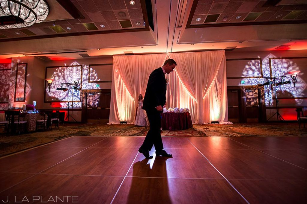 groom moonwalking on the dance floor