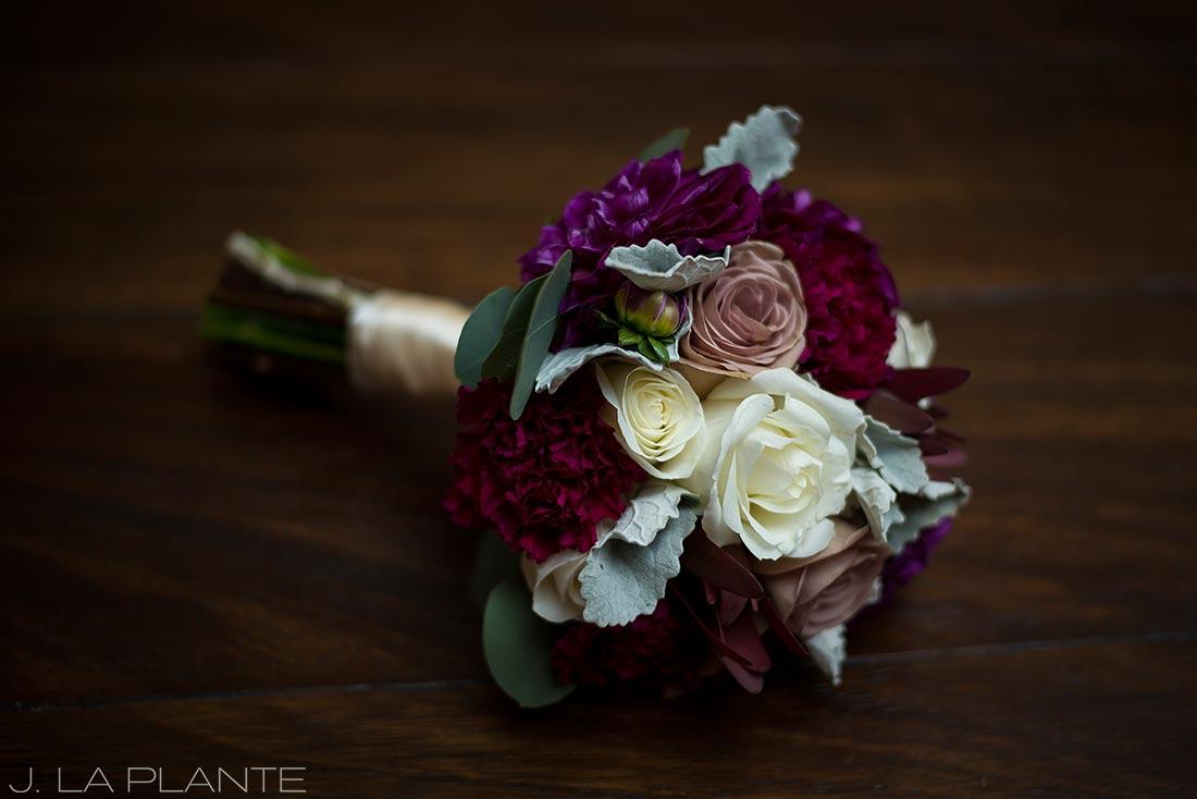 J. La Plante Photo | Winter Park Colorado Wedding Photographer | Devil's Thumb Ranch Wedding | Bride's Bouquet Detail Photo