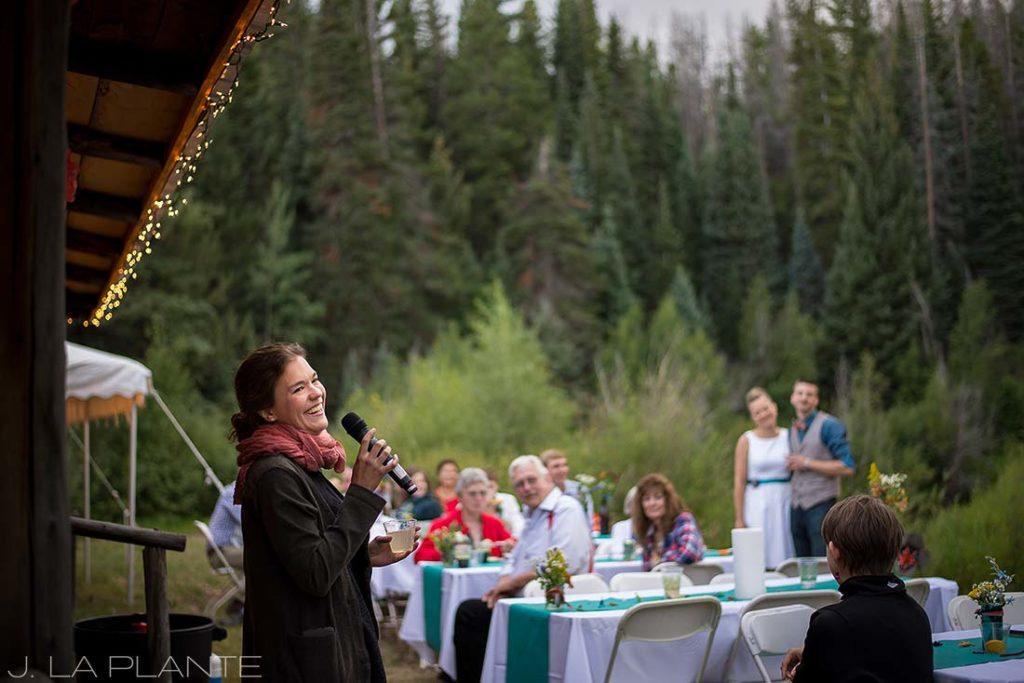J. La Plante Photo | Grand County Wedding Photographer | Granby Colorado Wedding | Wedding Toasts