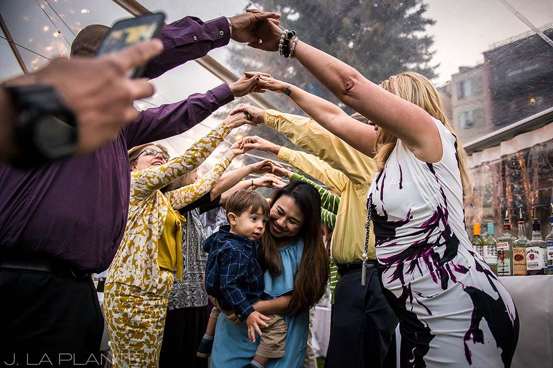 J. La Plante Photo | Vail Wedding Photographers | Lion Square Lodge Wedding | Wedding March Polka Dance