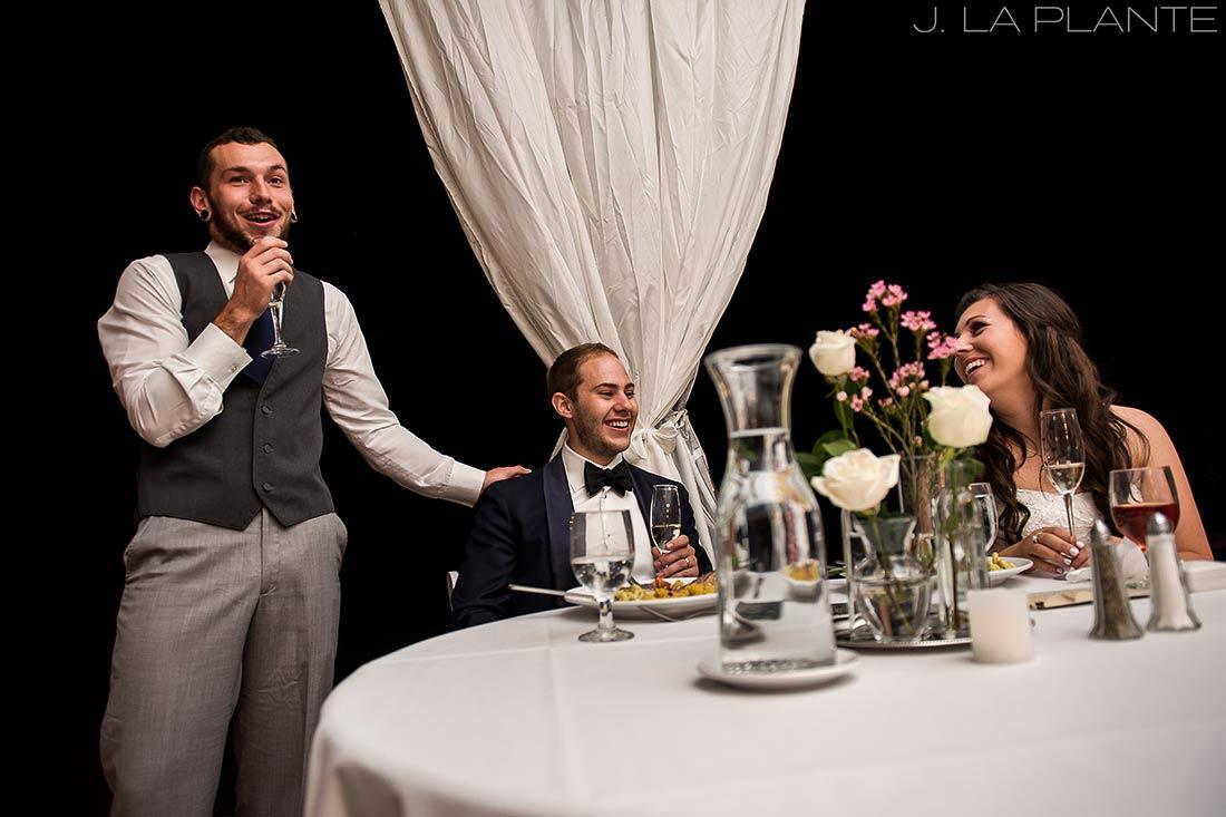 J. La Plante Photo | Boulder Wedding Photographers | Wedgewood on Boulder Creek Wedding | Best Man Speech