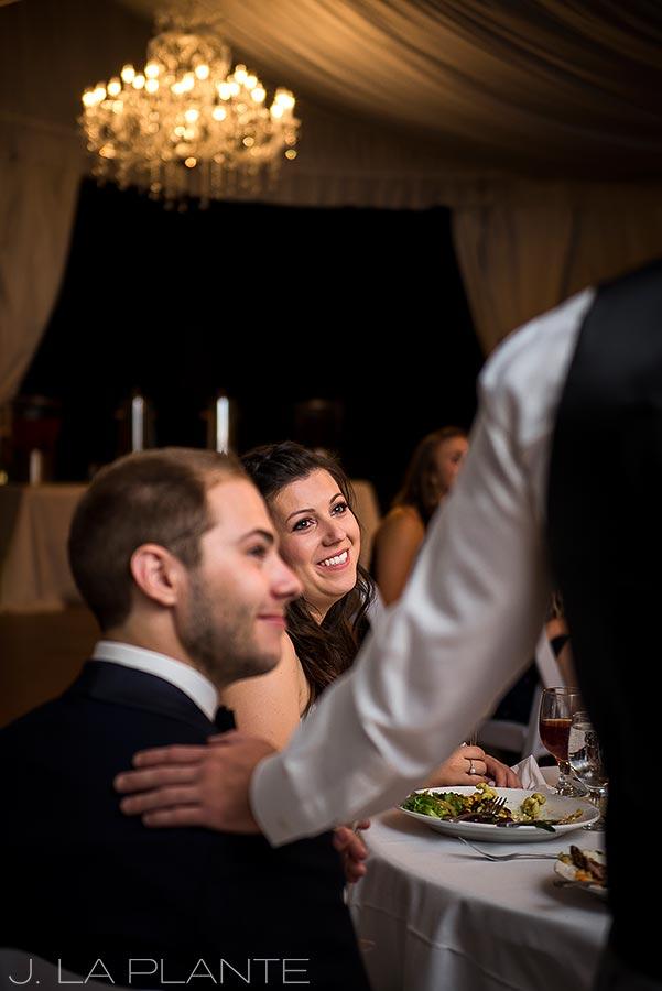 J. La Plante Photo | Boulder Wedding Photographers | Wedgewood on Boulder Creek Wedding | Wedding Toasts