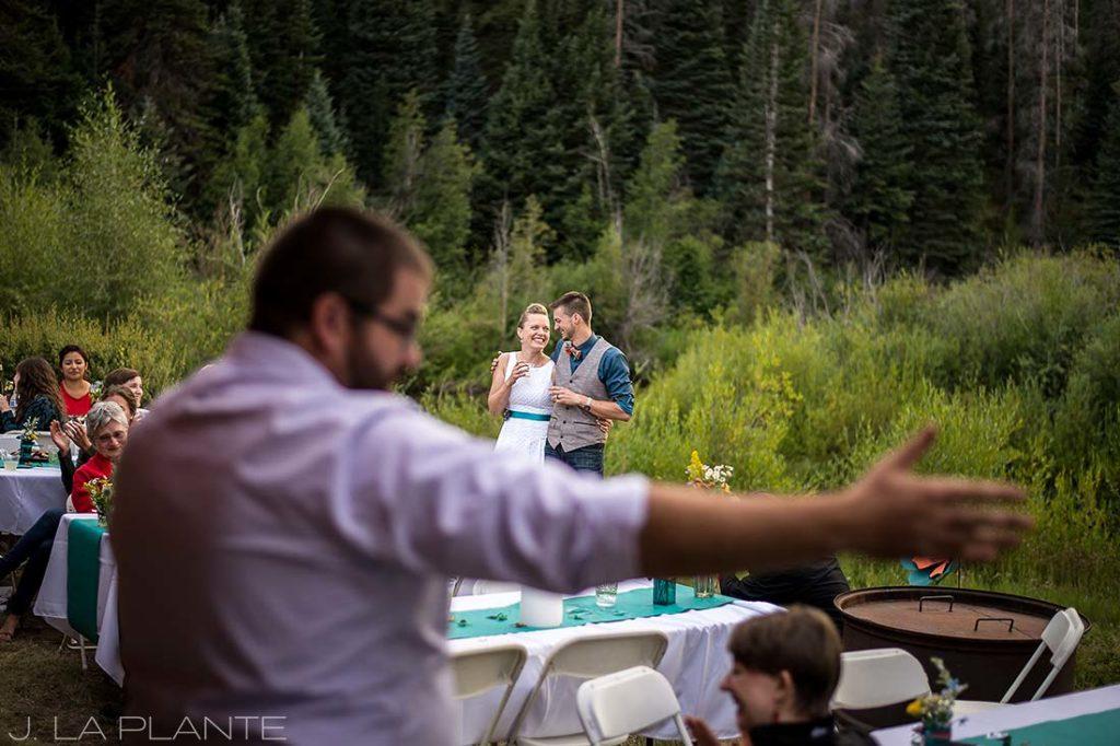J. La Plante Photo | Colorado Wedding Photographer | Granby Colorado Wedding | Wedding Toasts