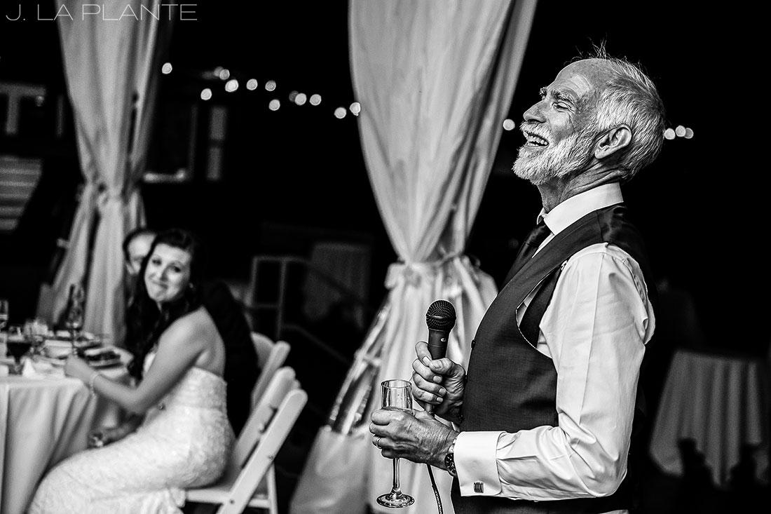 J. La Plante Photo | Boulder Wedding Photographers | Wedgewood on Boulder Creek Wedding | Father of the Groom Speech