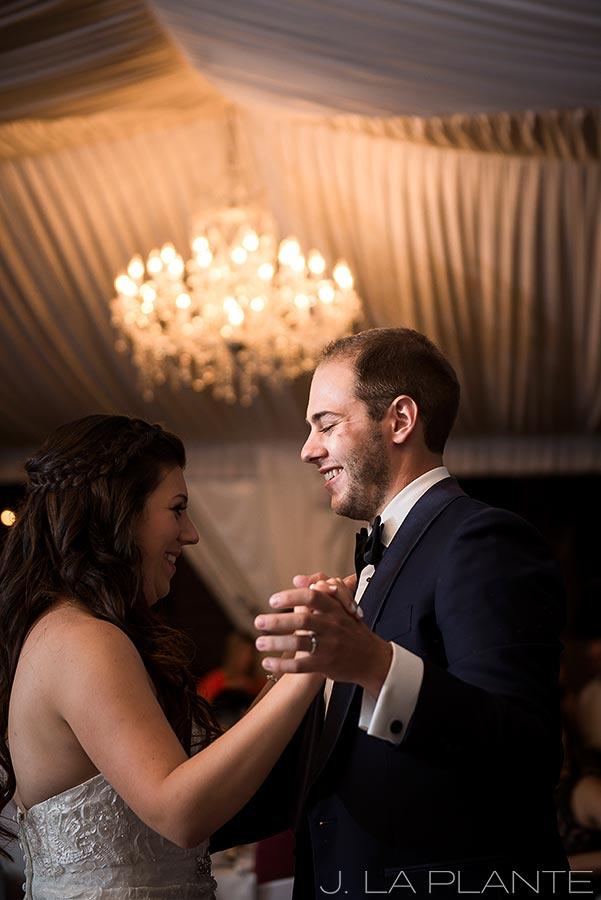 J. La Plante Photo | Boulder Wedding Photographers | Wedgewood on Boulder Creek Wedding | Bride and Groom FIrst Dance
