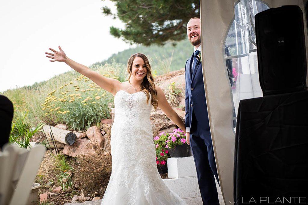 J. LaPlante Photo | Colorado Wedding Photographer | Mon Cheri Wedding | Bride and Groom Entrance