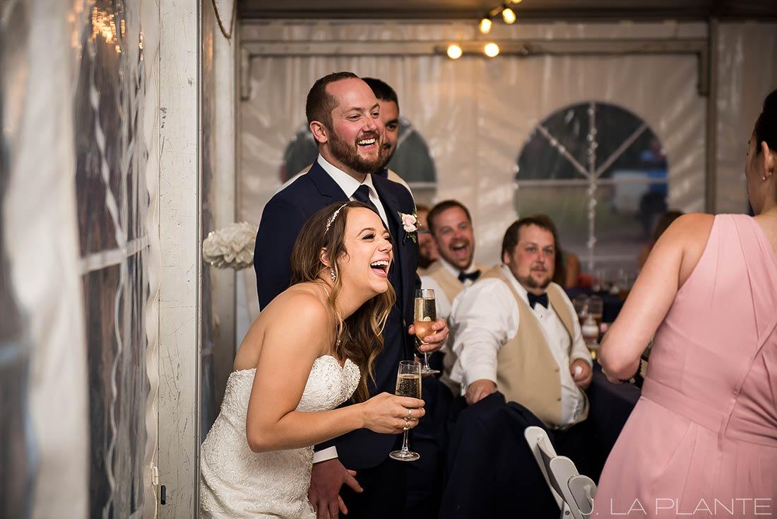 J. LaPlante Photo | Colorado Wedding Photographer | Mon Cheri Wedding | Maid of Honor Speech
