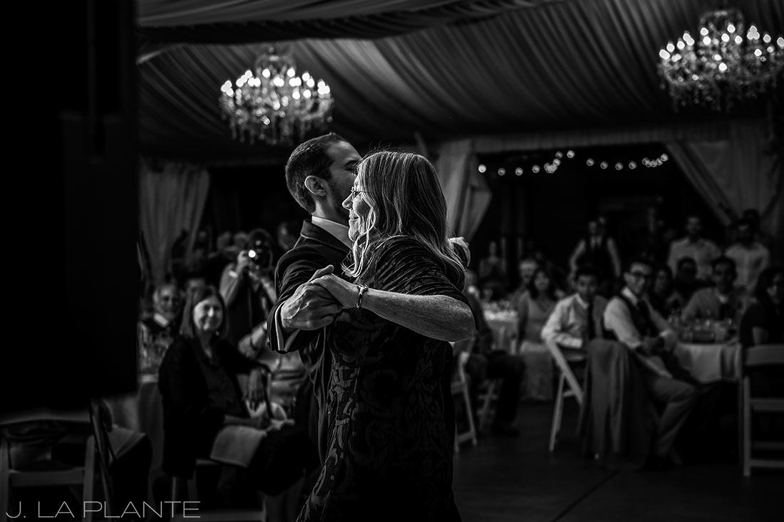 J. La Plante Photo | Boulder Wedding Photographers | Wedgewood on Boulder Creek Wedding | Mother Son Dance