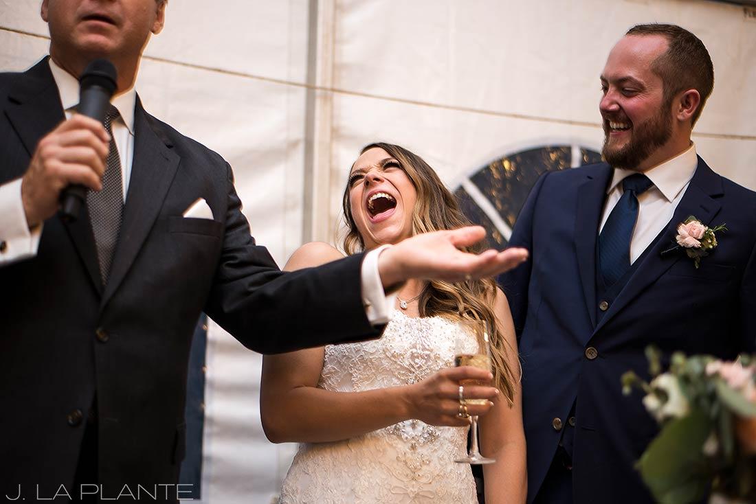 J. LaPlante Photo | Colorado Wedding Photographer | Mon Cheri Wedding | Father of the Bride Speech