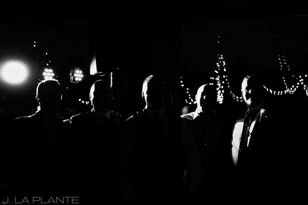 J. La Plante Photo | Winter Park Colorado Wedding Photographer | Devil's Thumb Ranch Wedding | Cool Groomsmen Portrait