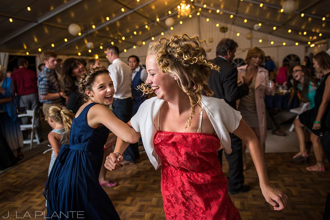 J. LaPlante Photo | Colorado Wedding Photographer | Mon Cheri Wedding | Junior Bridesmaids Dancing
