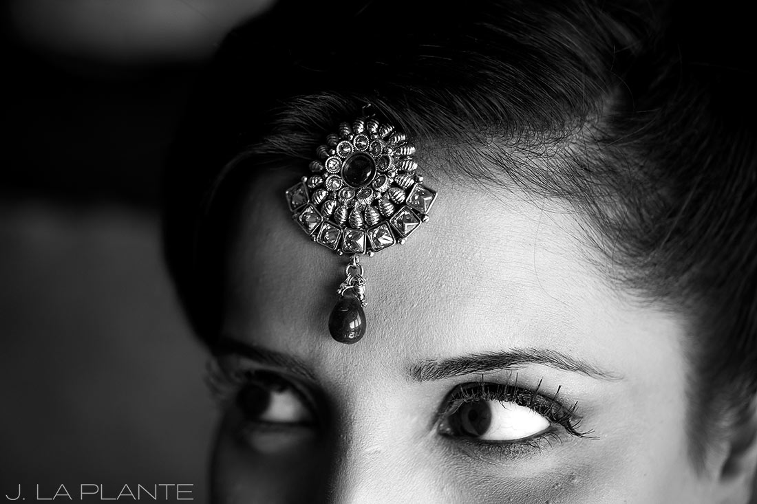 J. LaPlante Photo | Colorado Springs Wedding Photographer | Cheyenne Mountain Resort Wedding | Hindu Wedding Bride's Jewelry