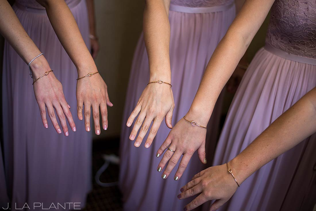 J. La Plante Photo | Denver Wedding Photographer | Grand Hyatt Wedding | Bridesmaid gifts