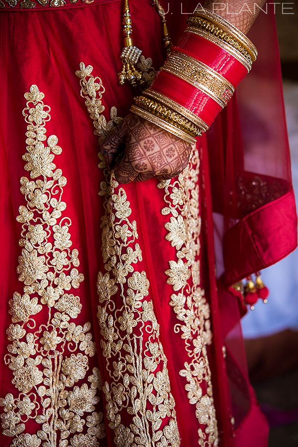 J. LaPlante Photo | Colorado Springs Wedding Photographer | Cheyenne Mountain Resort Wedding | Hindu Wedding Bride's Attire