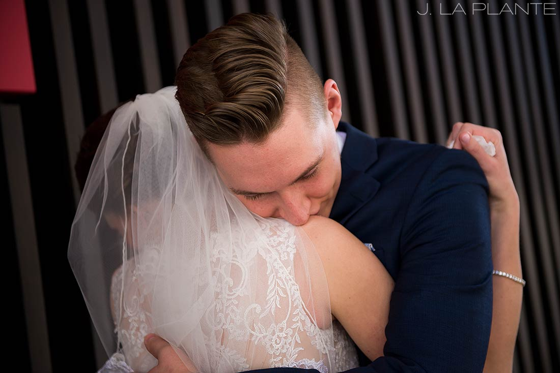 J. La Plante Photo | Denver Wedding Photographer | Grand Hyatt Wedding | First look