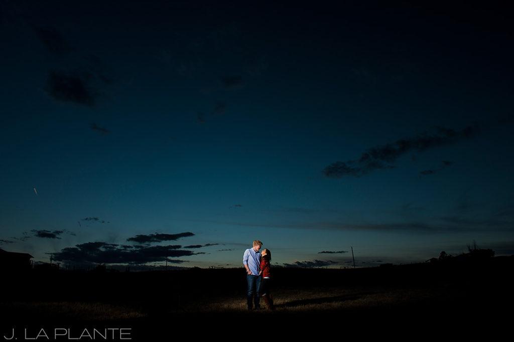 J. La Plante Photo   Colorado Wedding Photographer   Horse Ranch Engagement   Sunset Engagement Photo