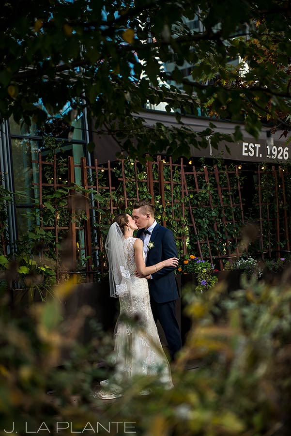 J. La Plante Photo | Denver Wedding Photographer | Grand Hyatt Wedding | Bride and groom kissing