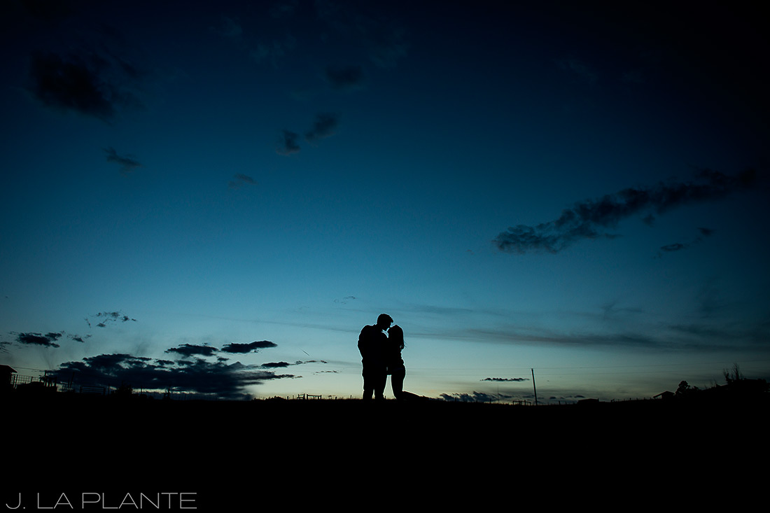 J. La Plante Photo | Colorado Wedding Photographer | Horse Ranch Engagement | Sunset Engagement Photo