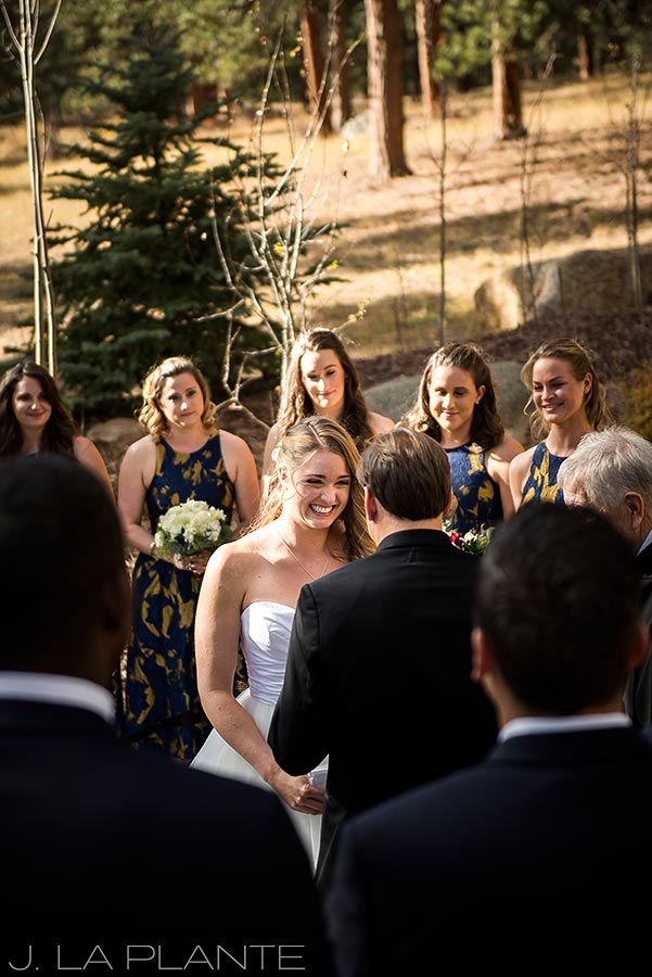 Wedding ceremony | Fall wedding at Della Terra | Estes Park wedding photographers | J. La Plante Photo