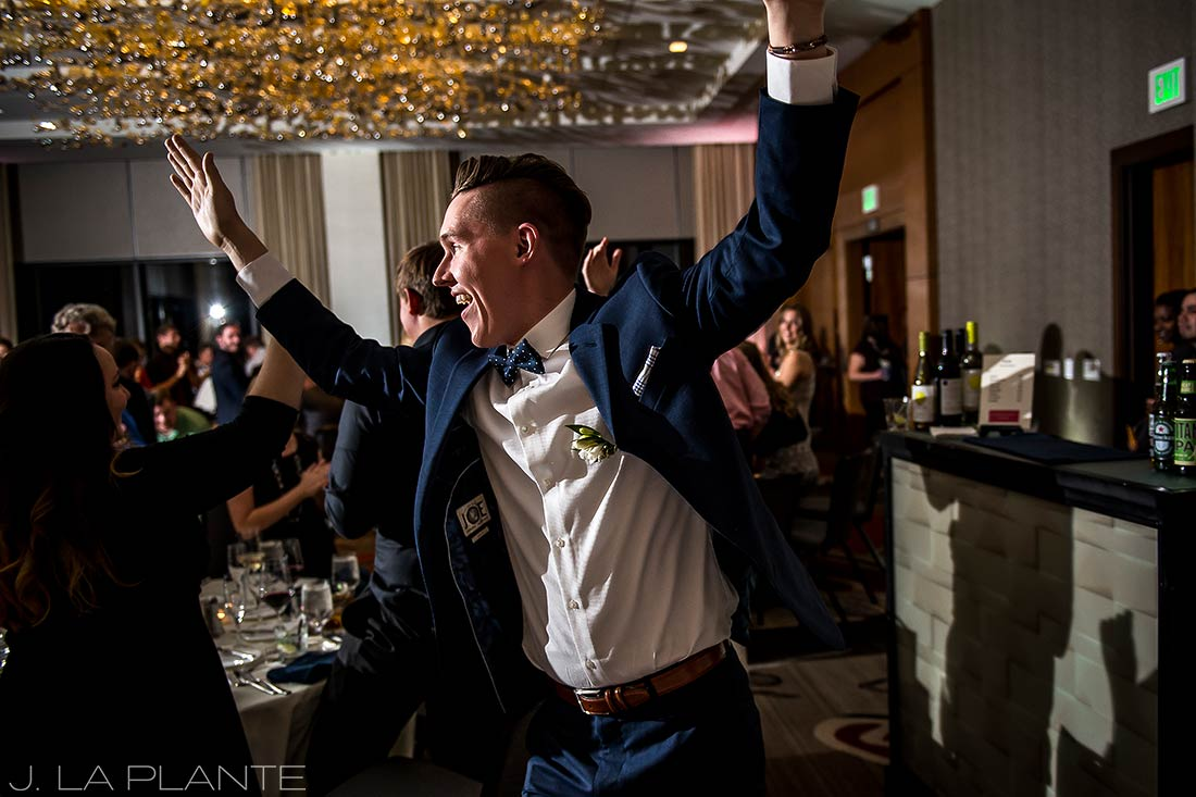 J. La Plante Photo | Denver Wedding Photographer | Grand Hyatt Wedding | Groom's grand entrance