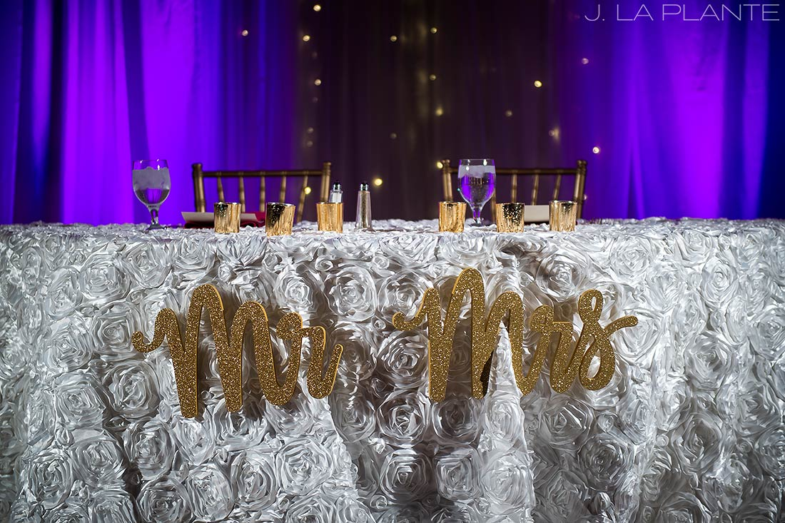 Sweetheart table | Hindu wedding in Colorado Springs | Cheyenne Mountain Resort wedding | J. La Plante Photo