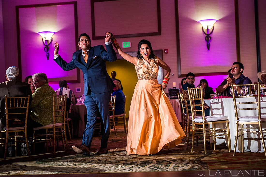 Bride and groom announcement | Hindu wedding in Colorado Springs | Cheyenne Mountain Resort wedding | J. La Plante Photo