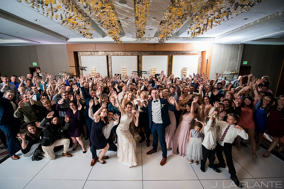 J. La Plante Photo | Denver Wedding Photographer | Grand Hyatt Wedding | Awesome group photo