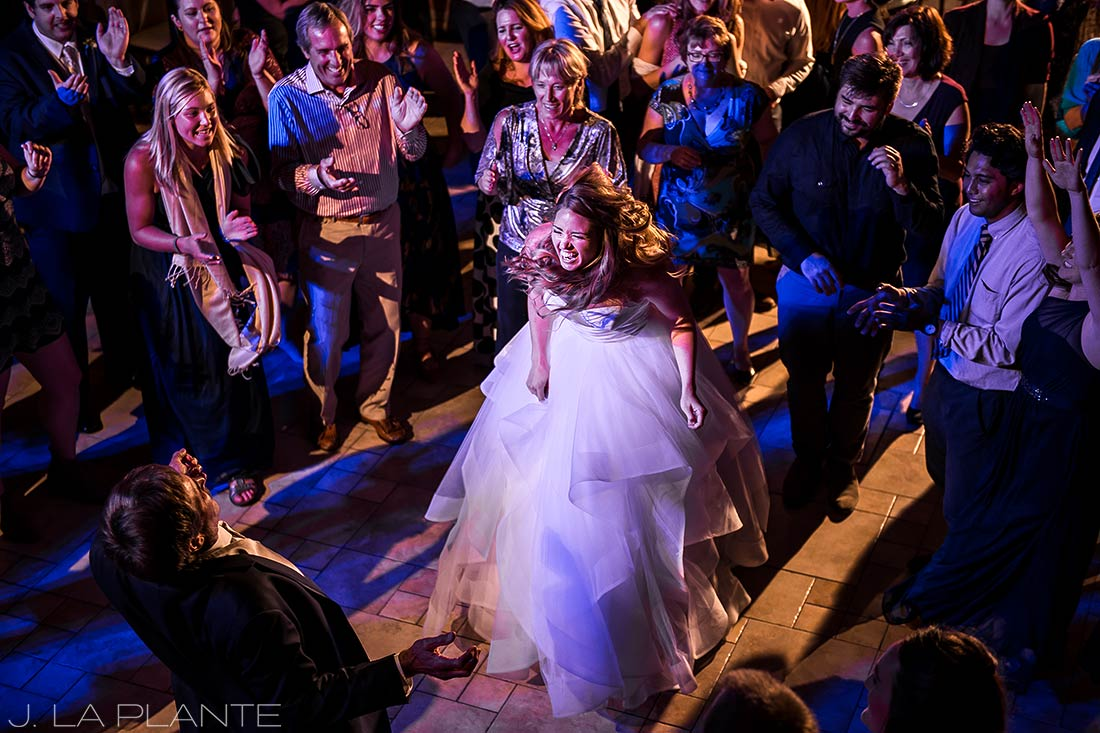 Wedding dance party | Fall wedding at Della Terra | Estes Park wedding photographers | J. La Plante Photo