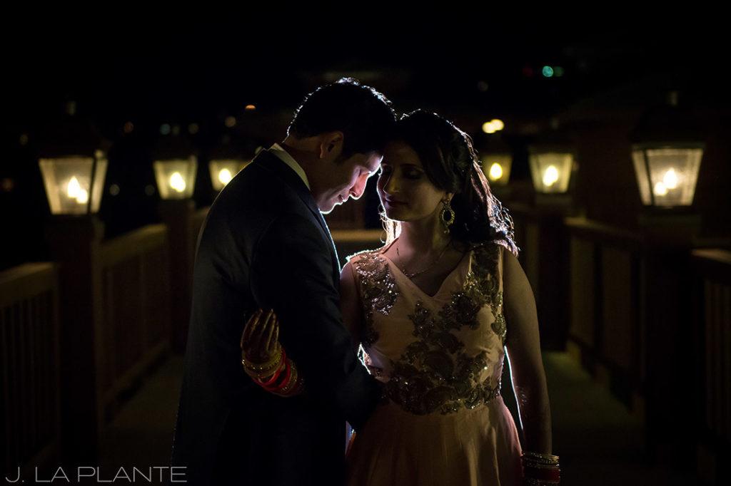 Creative bride and groom photo   Hindu wedding in Colorado Springs   Cheyenne Mountain Resort wedding   J. La Plante Photo