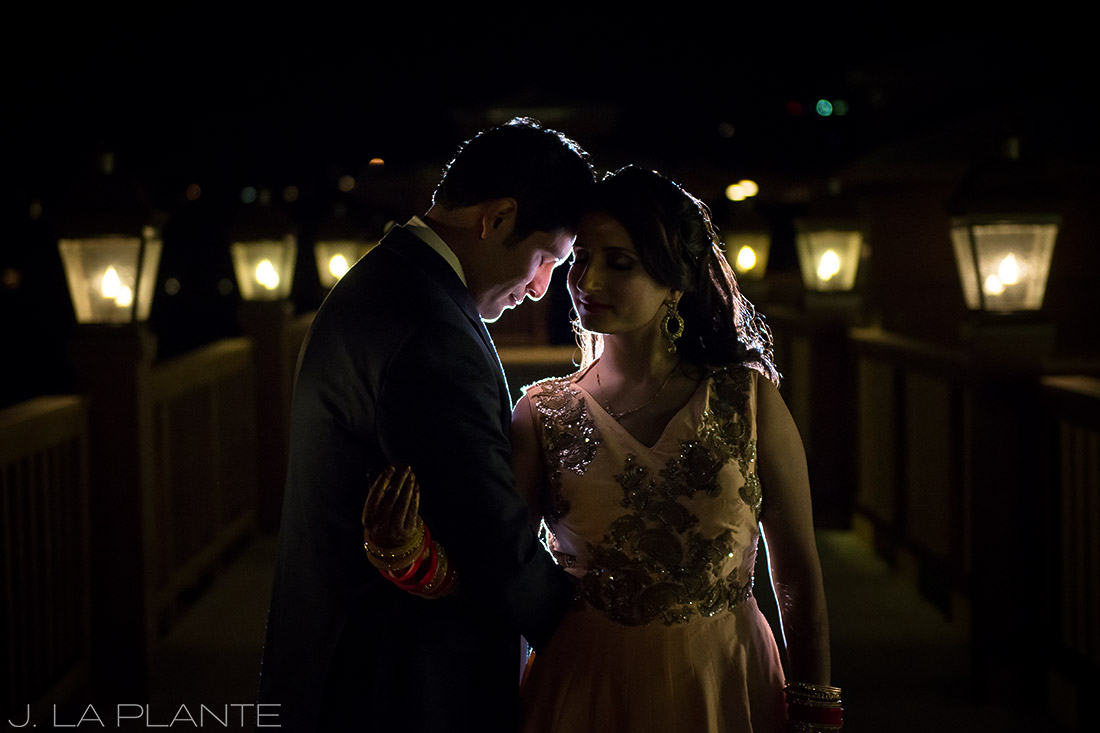 Creative bride and groom photo | Hindu wedding in Colorado Springs | Cheyenne Mountain Resort wedding | J. La Plante Photo