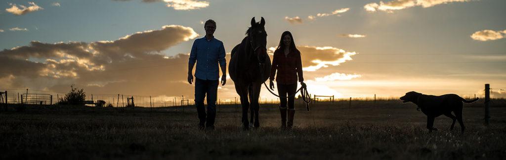 Horse engagement photos | Denver engagement photographer | J La Plante Photo