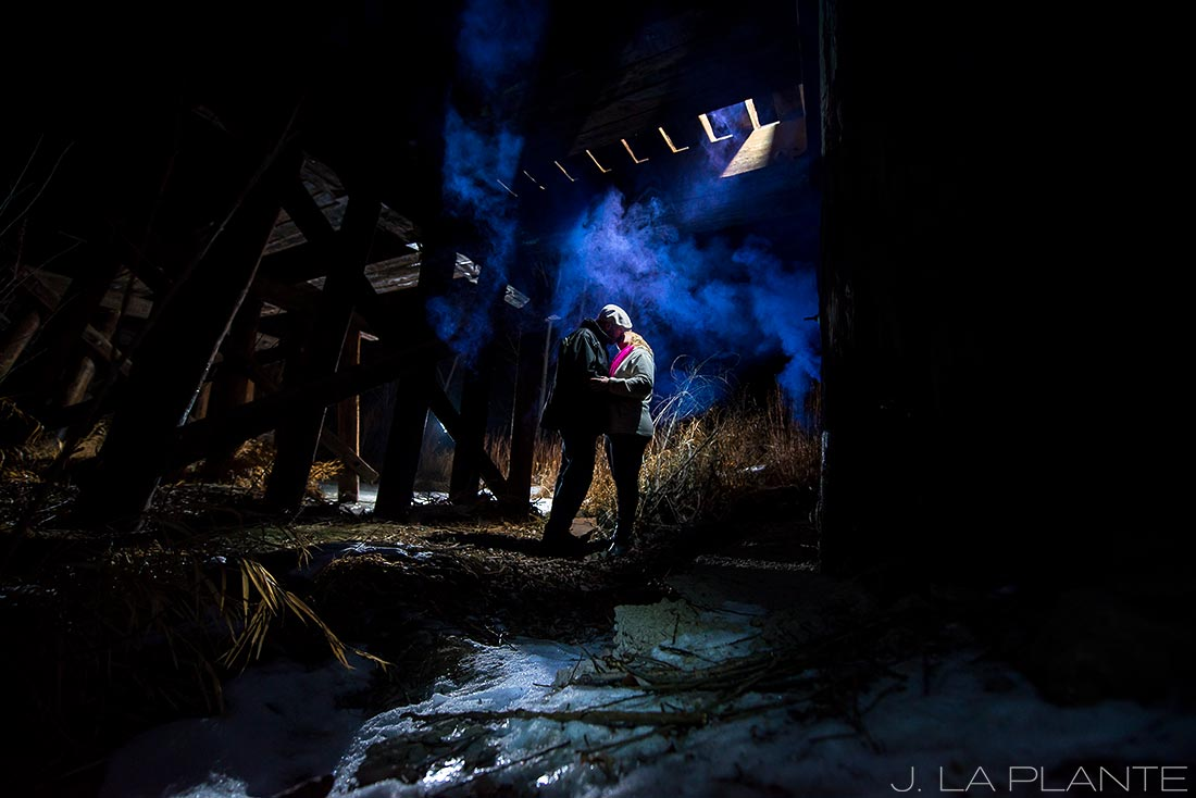 J. La Plante Photo   Boulder Wedding Photographers   Coal Creek Trail Engagement   Engagement Shoot with Smoke Bombs