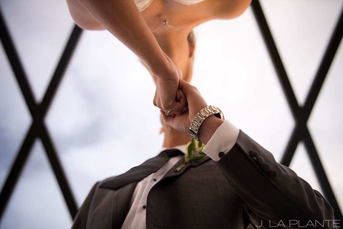 J. La Plante Photo   Denver Wedding Photographers   Mile High Station Wedding   Bride and Groom Kiss