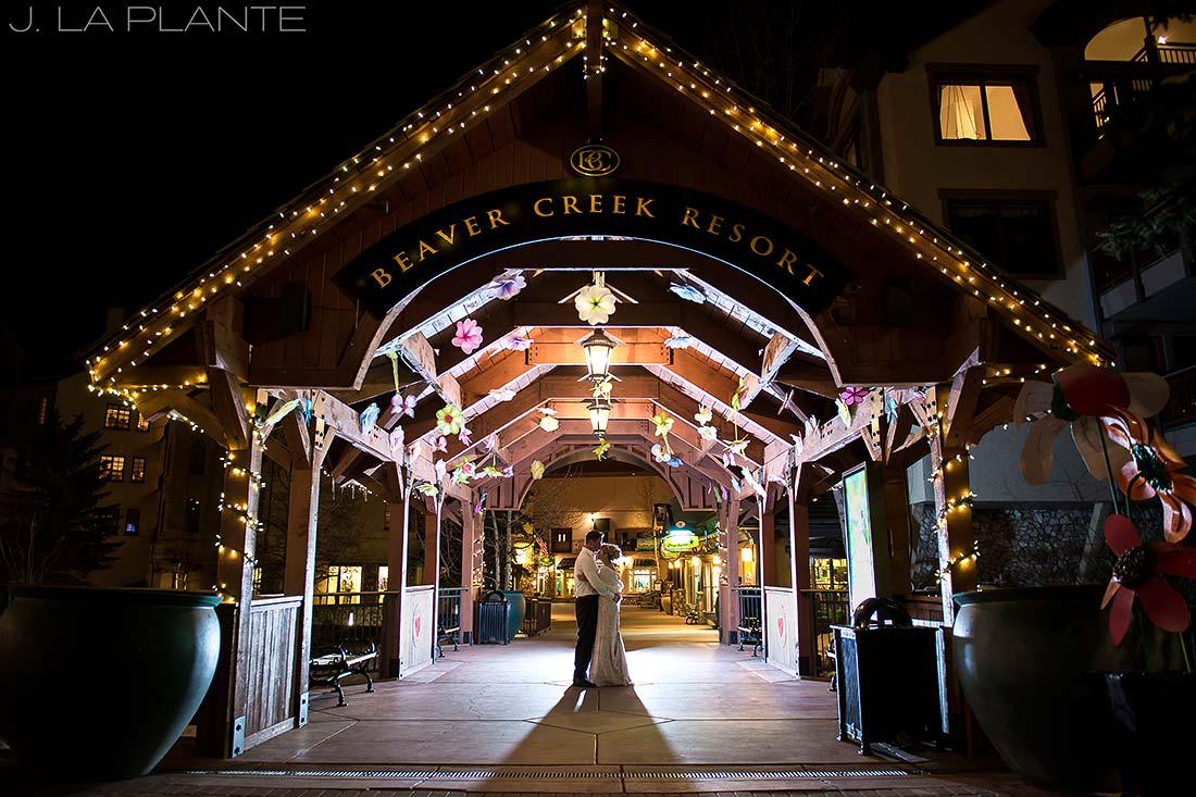 J. La Plante Photo   Beaver Creek Wedding Photographers   Beaver Creek Lodge Wedding   Nighttime Wedding Portrait