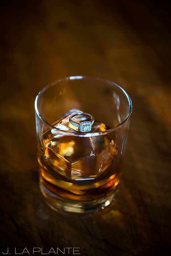 J. La Plante Photo   Golden Colorado Wedding Photographers   Golden Moon Speak Engagement   Engagement Ring in Whiskey