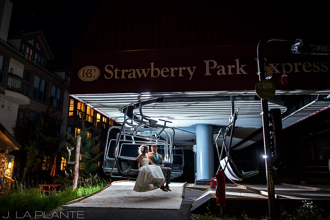 J. LaPlante Photo   Beaver Creek Wedding Photographers   Beaver Creek Wedding   Bride and Groom on Chairlift