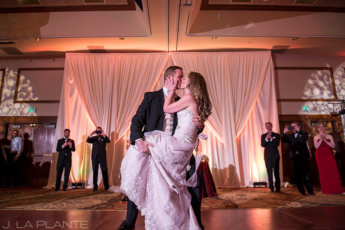 J. LaPlante Photo   Colorado Springs Wedding Photographers   Cheyenne Mountain Resort Wedding   Bride and Groom First Dance