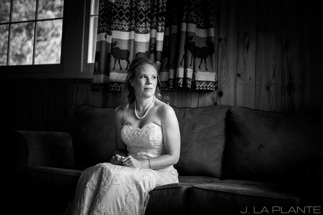 J. LaPlante Photo   Colorado Wedding Photographers   Lower Lake Ranch Wedding   Black and White Photo